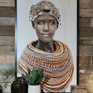 Wall Art Samburu Girl 210 x 140 cm