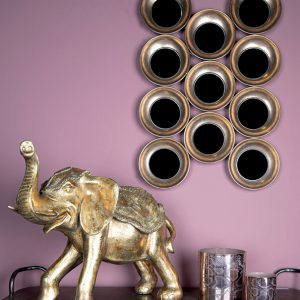 Sergio gold poly olifant staand beeld xl